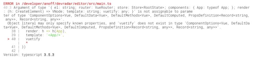 vuetify typescript errors