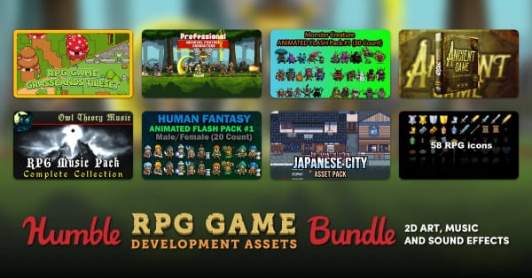 HUMBLE RPG GAME DEVELOPMENT ASSETS BUNDLE: 2D ART, MUSIC AND SOUND EFFECTS