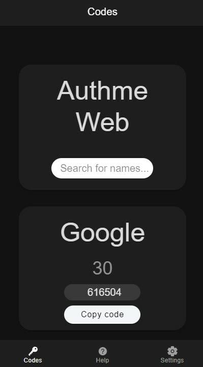 Authme Web Mobile