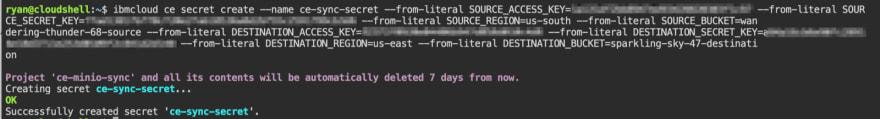 Create Code Engine Secret