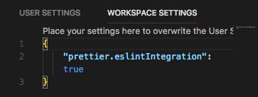 VS Code Workspace Settings