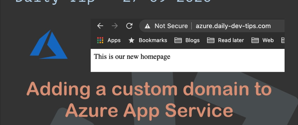 Cover image for Adding a custom domain to Azure App Service