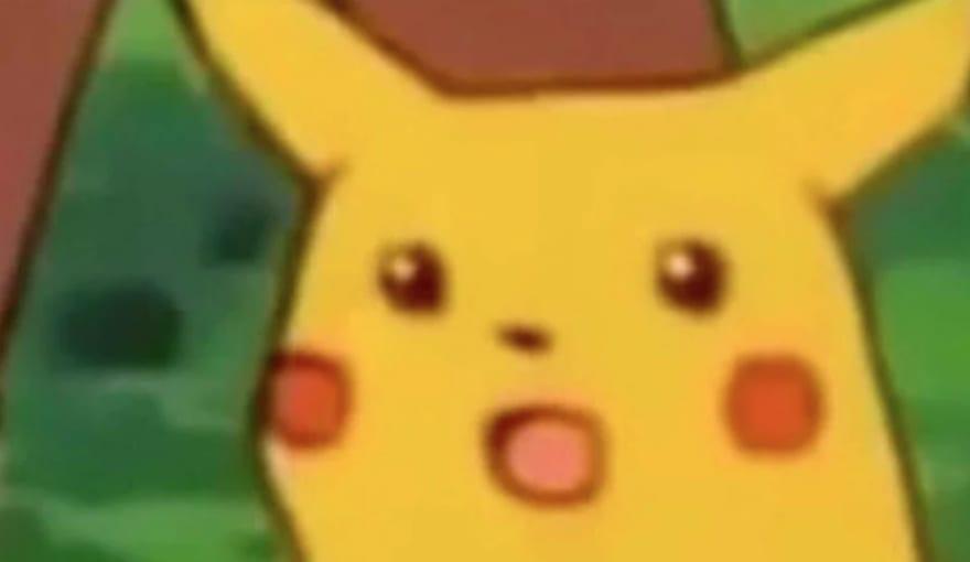 Pikachu meme face