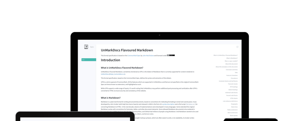 Cover image for UnMarkDocs: Better Markdown for your documentation