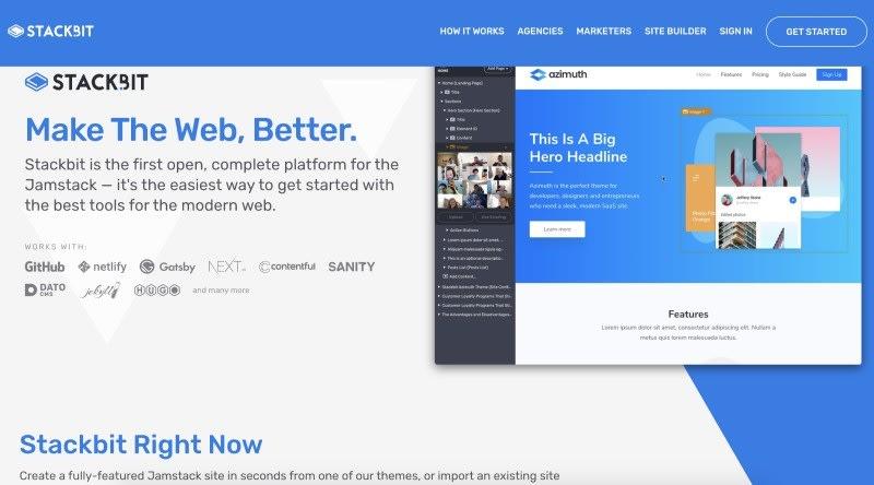 Stackbit for JAMStack website
