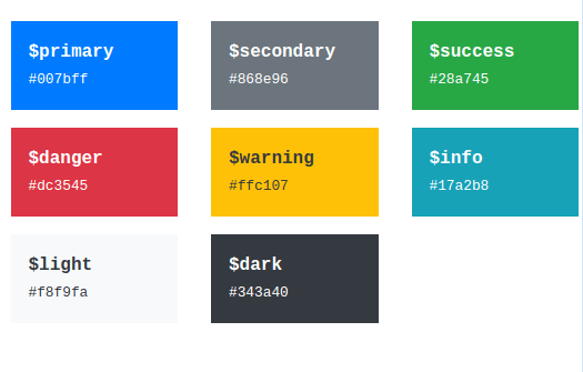 bootstap 5 color theme
