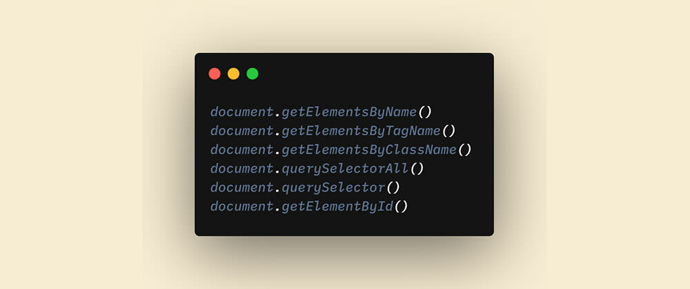 Cover image for Select HTML elements using JavaScript