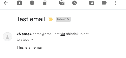 Our email as it appears in Gmail