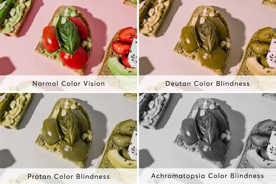 What colourblind people see