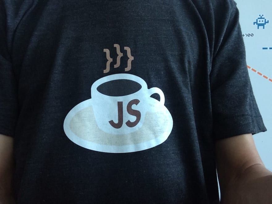 KopiJS t-shirt, worn by me
