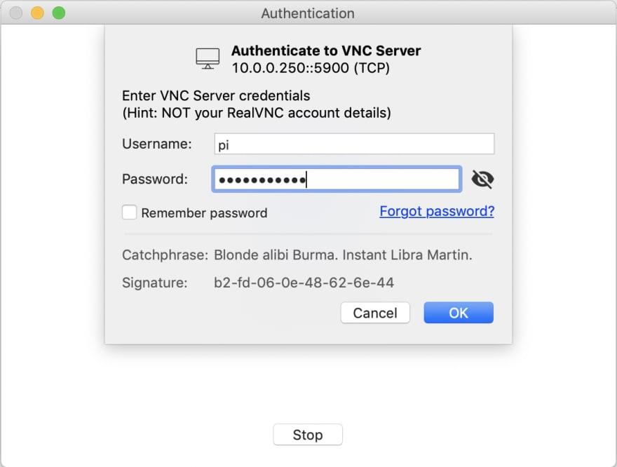 usuario y password