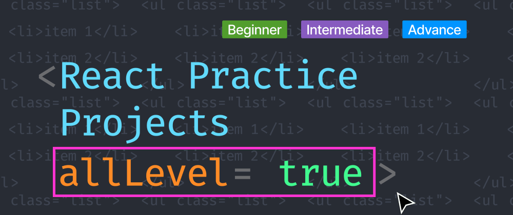 Cover image for React Practice Project for Beginner to Advance