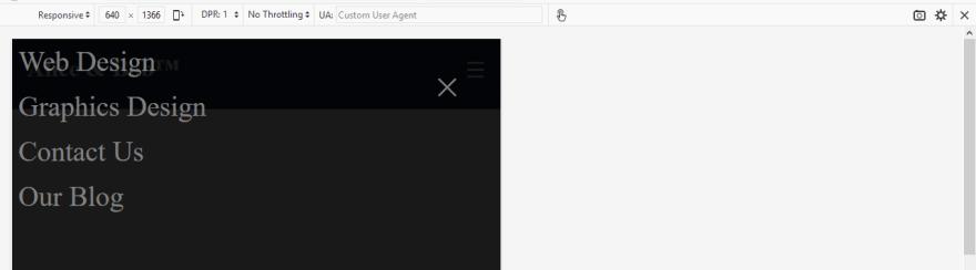Overlay navigation as seen in Firefox Responsive design mode