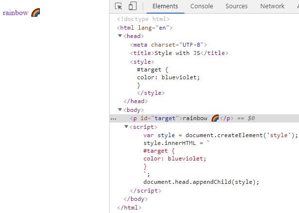 Set CSS styles with javascript - DEV Community 👩 💻👨 💻