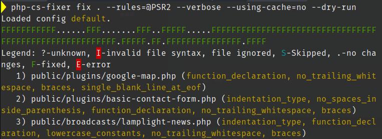 PHP CS Fixer - @PSR2 Ruleset