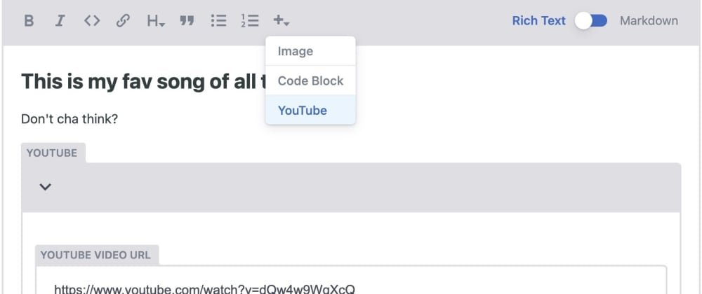 Cover image for Embedding YouTube videos in Gatsby blog posts using NetlifyCMS
