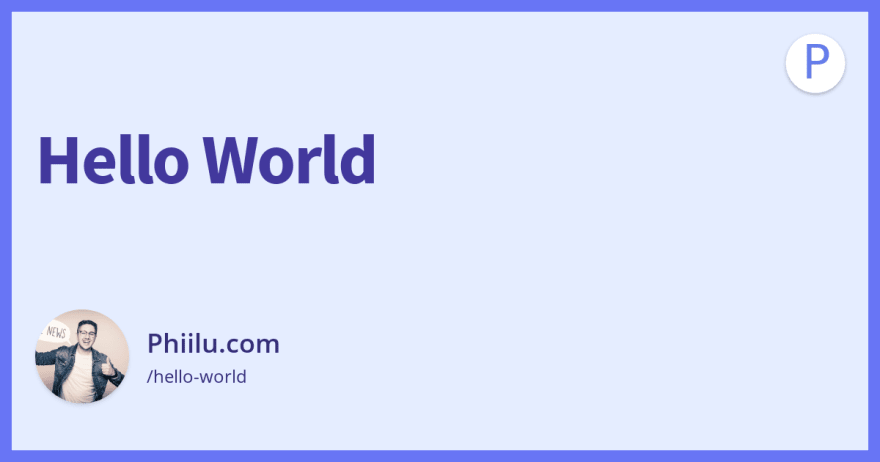 Hello World generated OG image