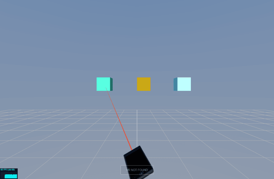 Screenshot of the laser pointer experiment