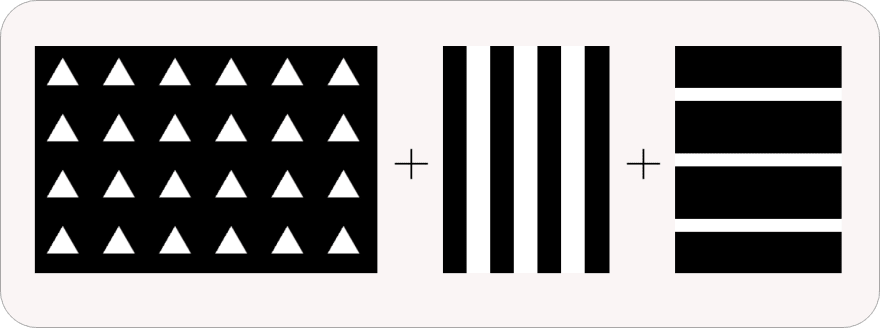 Bookmark construction as a combination of stripes and triangles