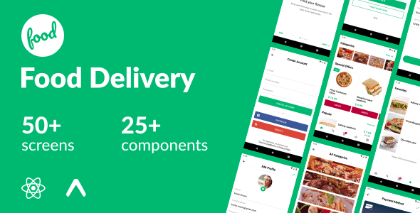 Food Delivery – React Native Template