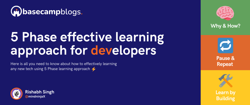 Cover image for 5 Phase effective learning approach for developers