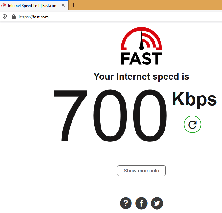 my home speed