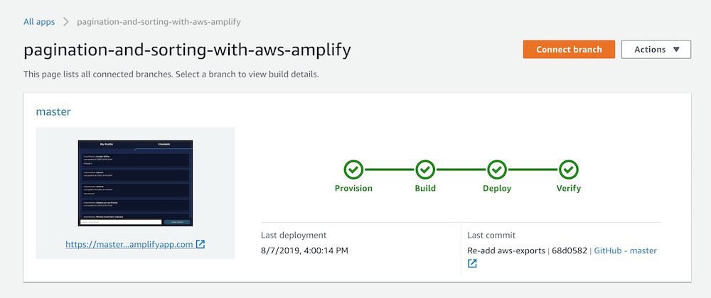 Cover image for Pagination & Sorting with AWS Amplify