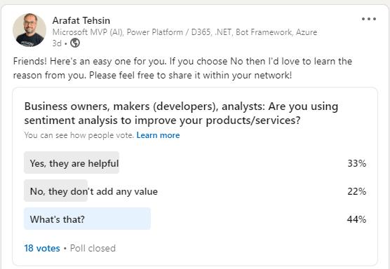 LinkedIn Poll Embed
