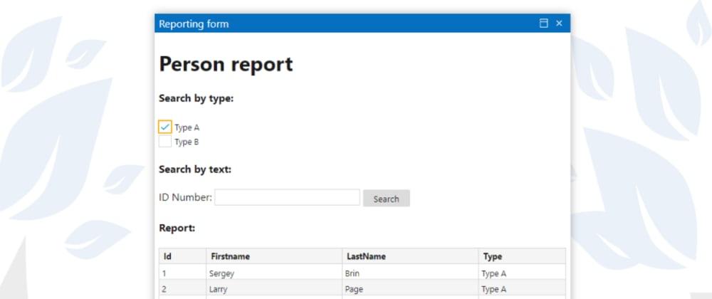 Cover image for Página web para el informe de datos con DotVVM Business Pack