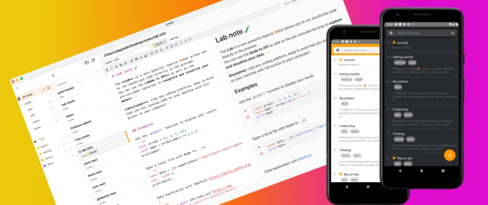 Cover Image for Dev tool: A markdown and code editor inspired by Jupyter notebooks 💫