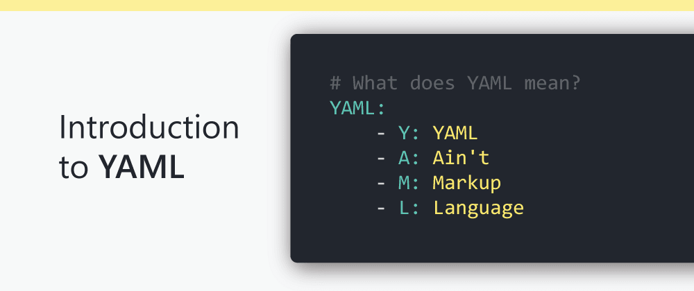 Cover image for Introduction to YAML