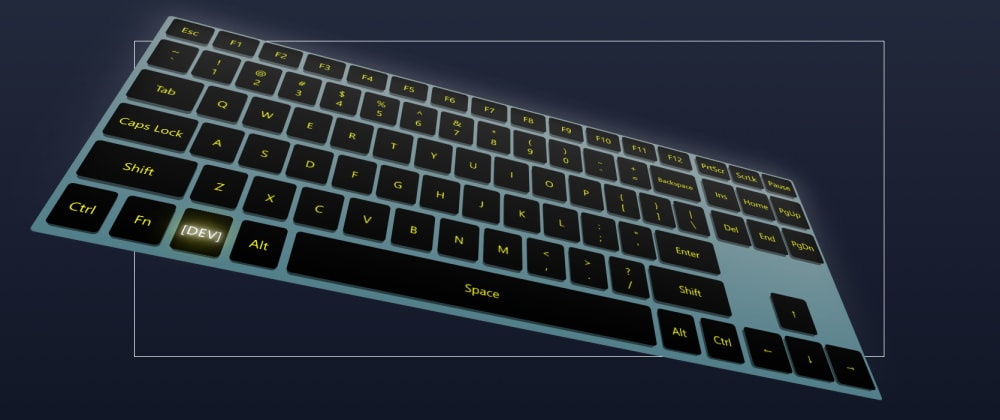 Cover image for The 3D keyboard made with CSS and JavaScript