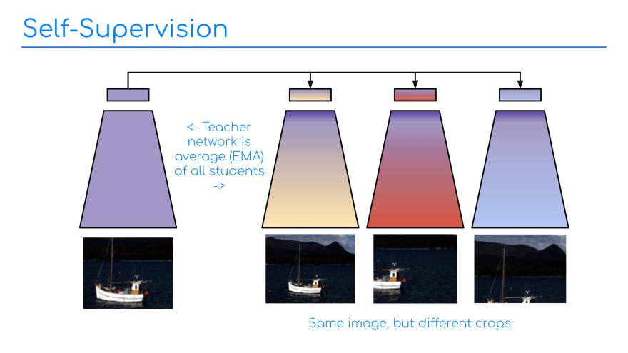 Slide 3: Self-supervised training.