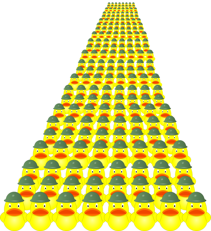 Army of rubber ducks