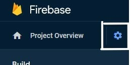 go to firebase project settings