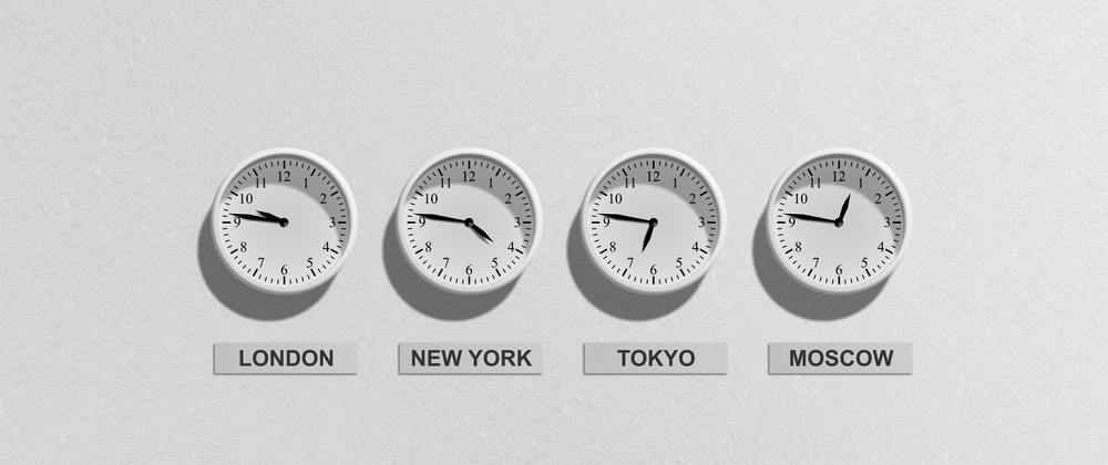 A Group of 4 clocks with different times