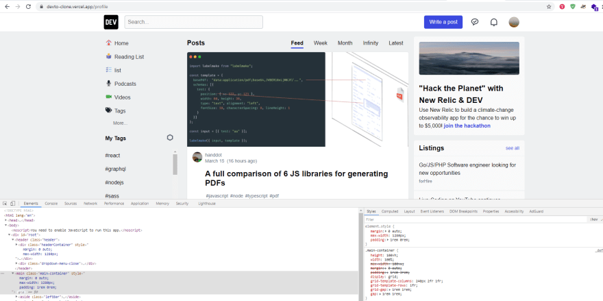 Small CSS Changes To Center the Header & Main Container