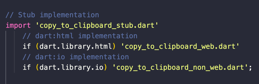 Need different implementations for web and native platforms? Use conditional imports.
