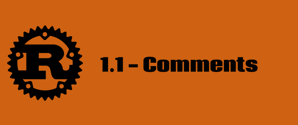 Cover image for 1.1 Comments