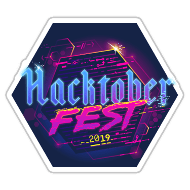 DEV.to account badge for having participated in Hacktoberfest 2019
