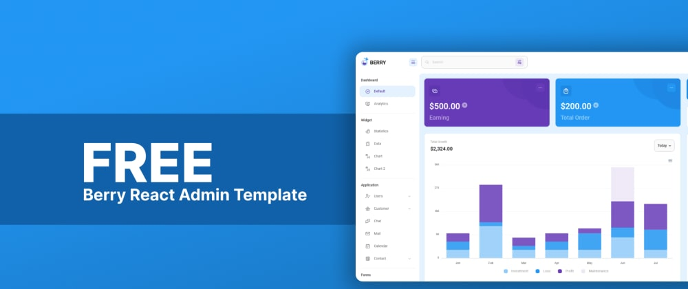 Cover image for It's out now - Berry Free React Admin Template