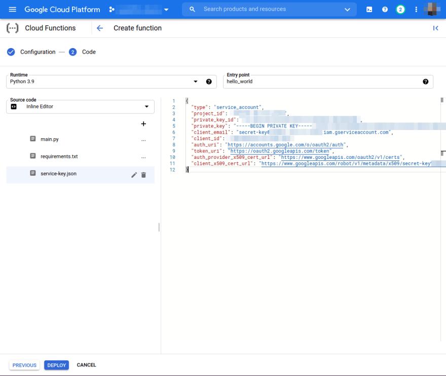service-key.json file