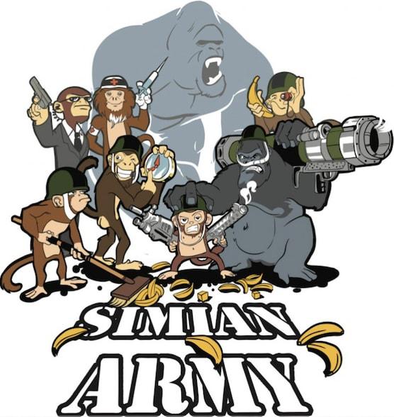 The Netflix Simian Army logo.