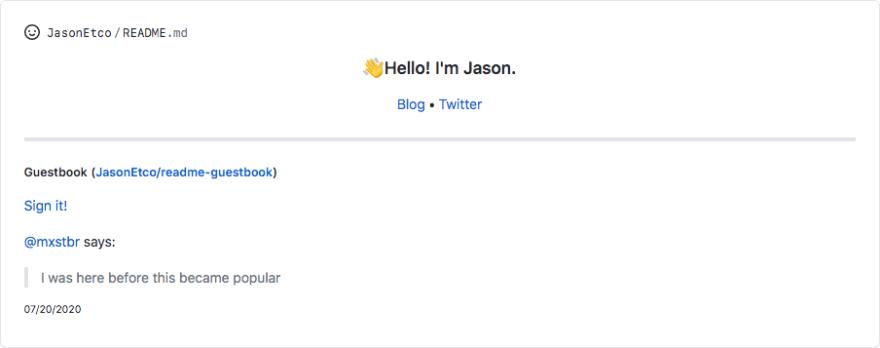 访客留言板 - GitHub Profile README
