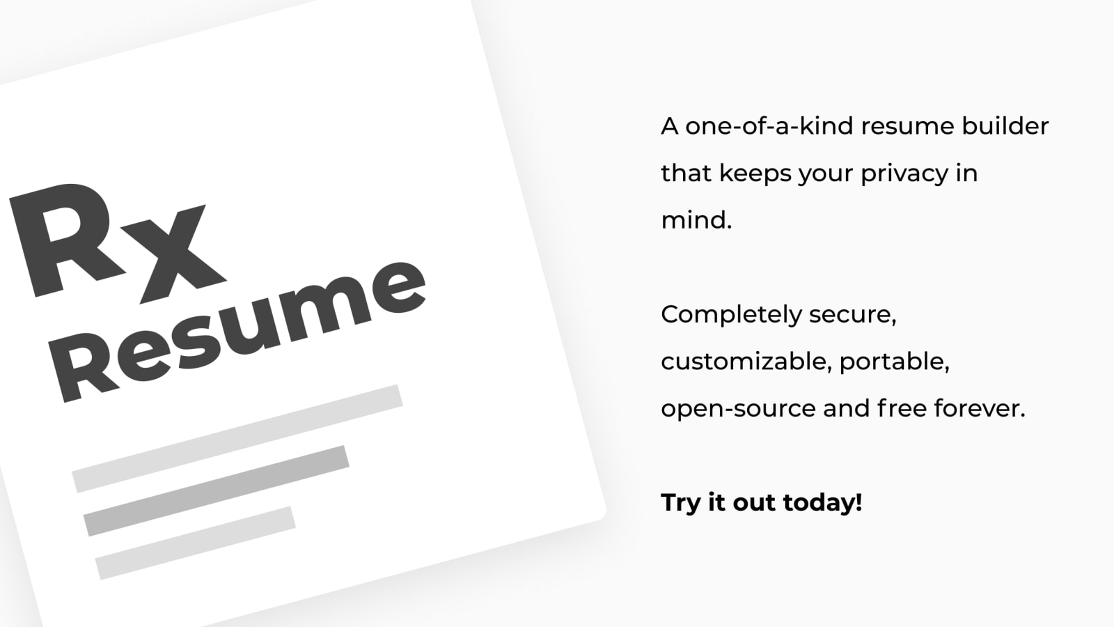 Ever Dreamed Of A Free And Open Source Resume Builder That Doesn T Store Your Data Meet Reactive Resume Dev
