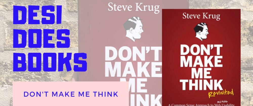 Cover image for Book Review: Don't Make Me Think!