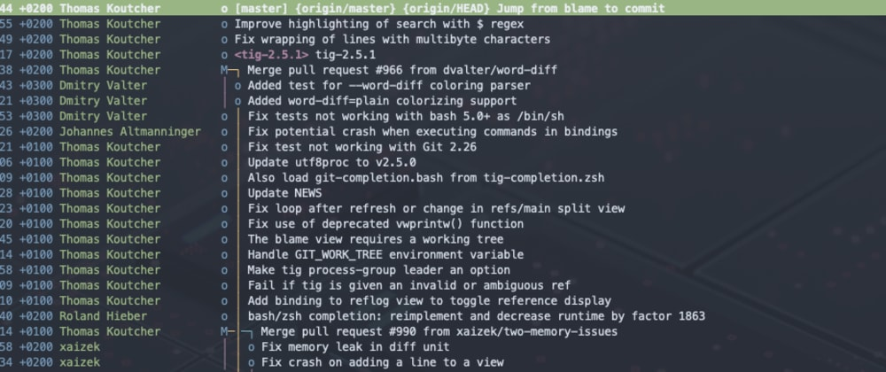 Cover image for Git staging with Tig