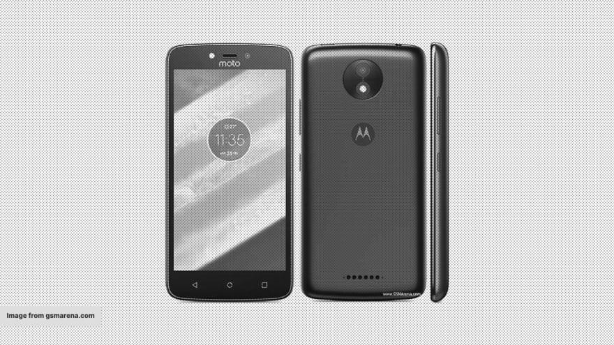 A Motorola Moto C Plus handset