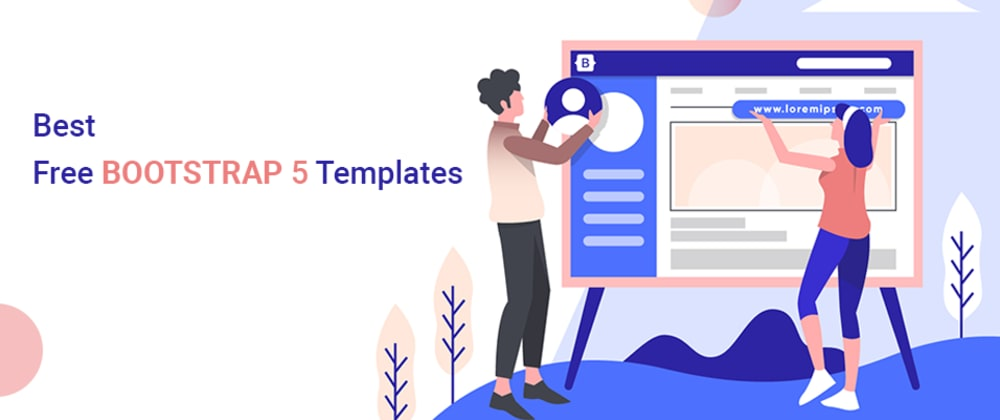 Cover image for Best Free Bootstrap 5 Templates for small start-ups 2021