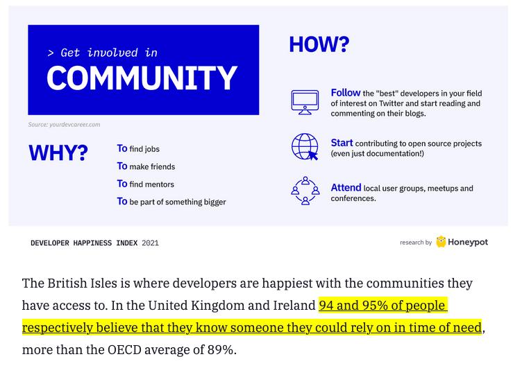 Infographic on online communities